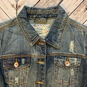 YMI Jackets & Coats - NEW YMI distressed jean jacket